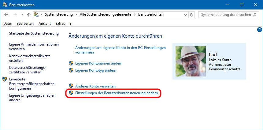 benutzerverwaltung windows 10